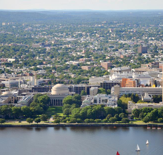 arial image of MIT campus